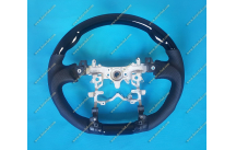 Руль спортивный на Toyota Aqua кожа + черный лак