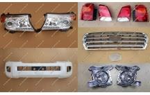 Комплект рестайлинга Toyota Land Cruiser 200 белый перламутр, тип 1, полный