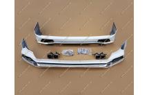 Обвес Modellista на Lexus LX570 с 2016г.- 2 трубы, белый перламутр