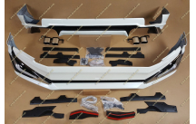 Обвес Modellista на Toyota Land Cruiser Prado 150 с 2018г.- 2 трубы, белый перламутр