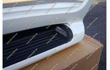 Подножки с подсветкой Toyota Land Cruiser 200, комплект, белые (перламутр)