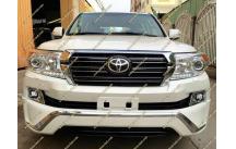 Рестайлинг комплект Toyota Land Cruiser 200 в 16год+обвес белый перламутр