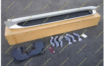 Подножки с подсветкой Lexus LX570, комплект, серебристые