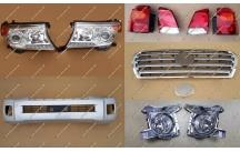 Комплект рестайлинга Toyota Land Cruiser 200 серебристый, тип 1, полный