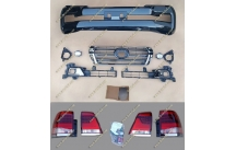 Рестайлинг комплект Toyota Land Cruiser 200 в 16год + стопы черный