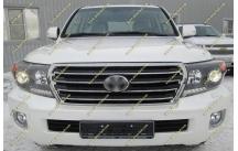Решетка радиатора Toyota Land Cruiser 200 Brownstone  до 2015г. Черная