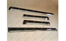 Молдинги с хромом на двери Toyota Land Cruiser Prado 150, черные тип 1