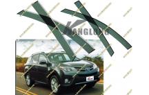 Ветровики без хрома Toyota Rav4  40  с 2013г.-