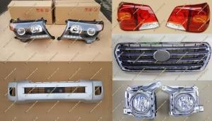 Рестайлинг комплект Toyota Land Cruiser 200 Brownstone серебристый, тип 2, полный