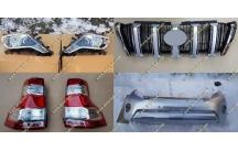 Комплект для рестайлинга Toyota Land Cruiser Prado 150  серебристый