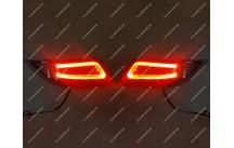 Неоновые + диодные катафоты в бампер Toyota Camry 50, 55 дымчатые 15-17г.