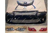 Рестайлинг комплект стиль Lexus на Toyota Camry 40 с черными фарами