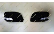 Корпуса зеркал с поворотником Toyota Land Cruiser 200, черные